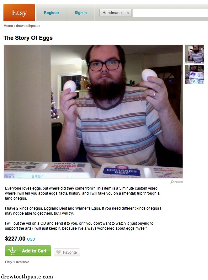 Etsy The Story Of Eggs